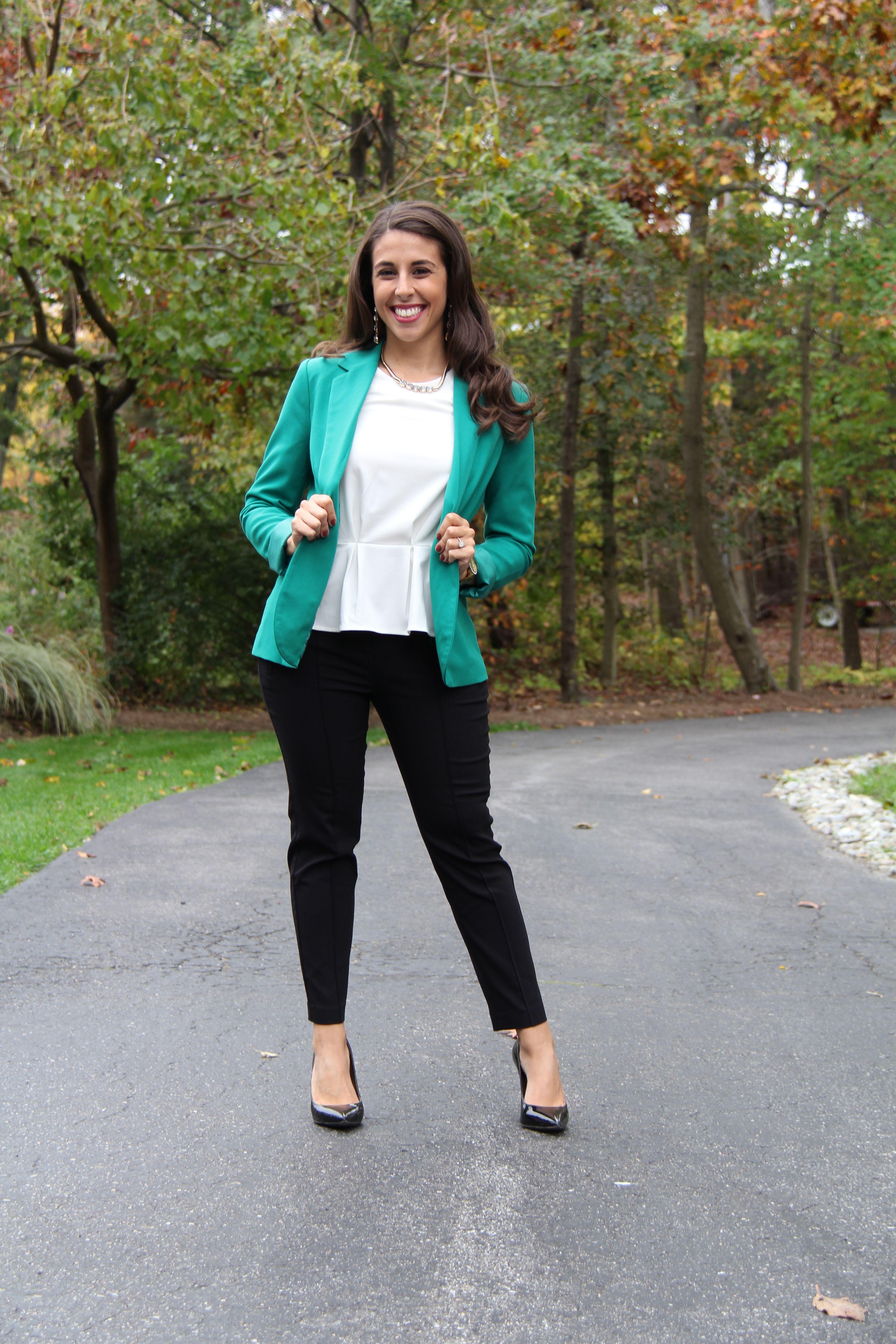 Style Envy} Kelly Green Blazer | popcorn and pandas