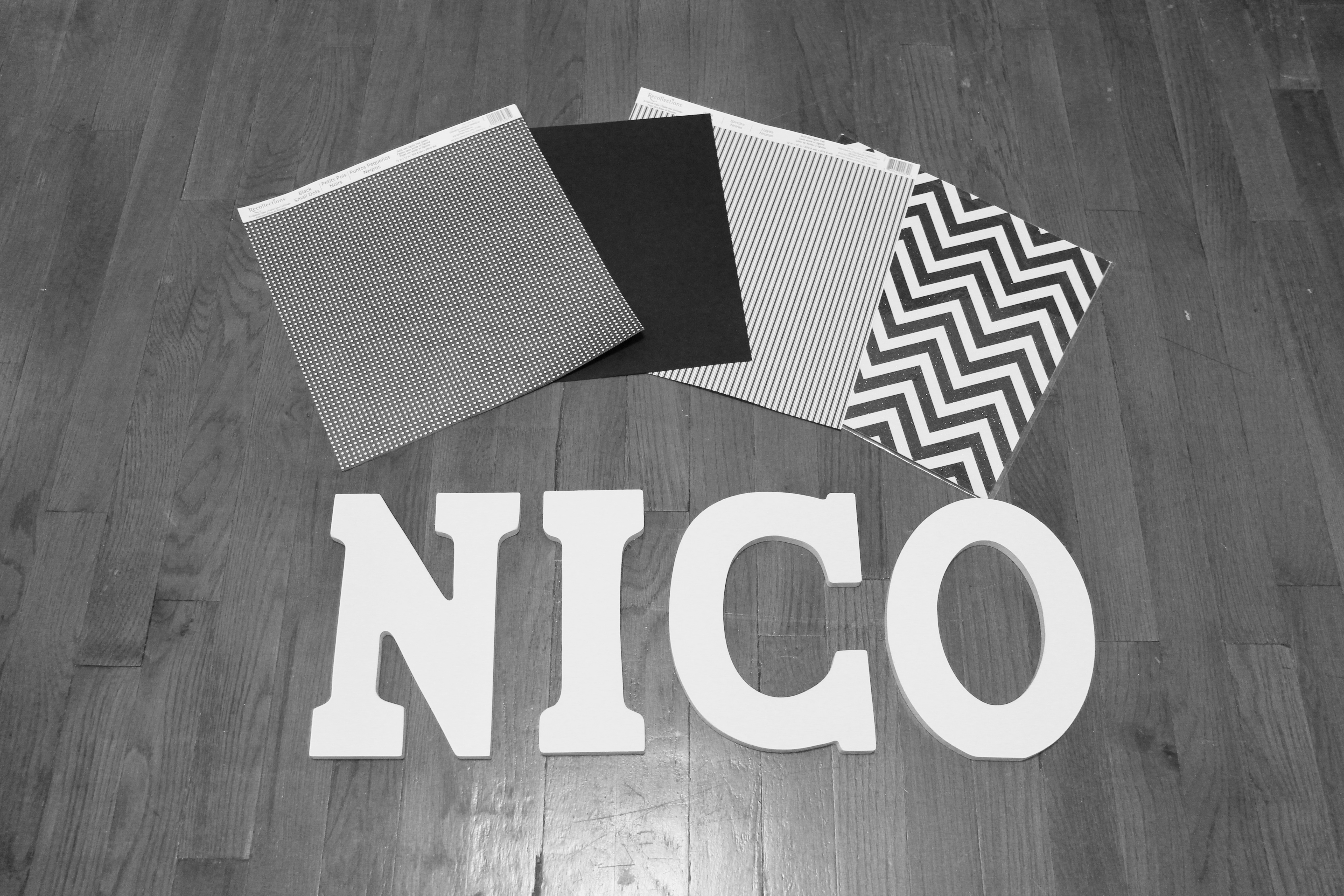 DIY: Decorate Wooden Letters For Nursery