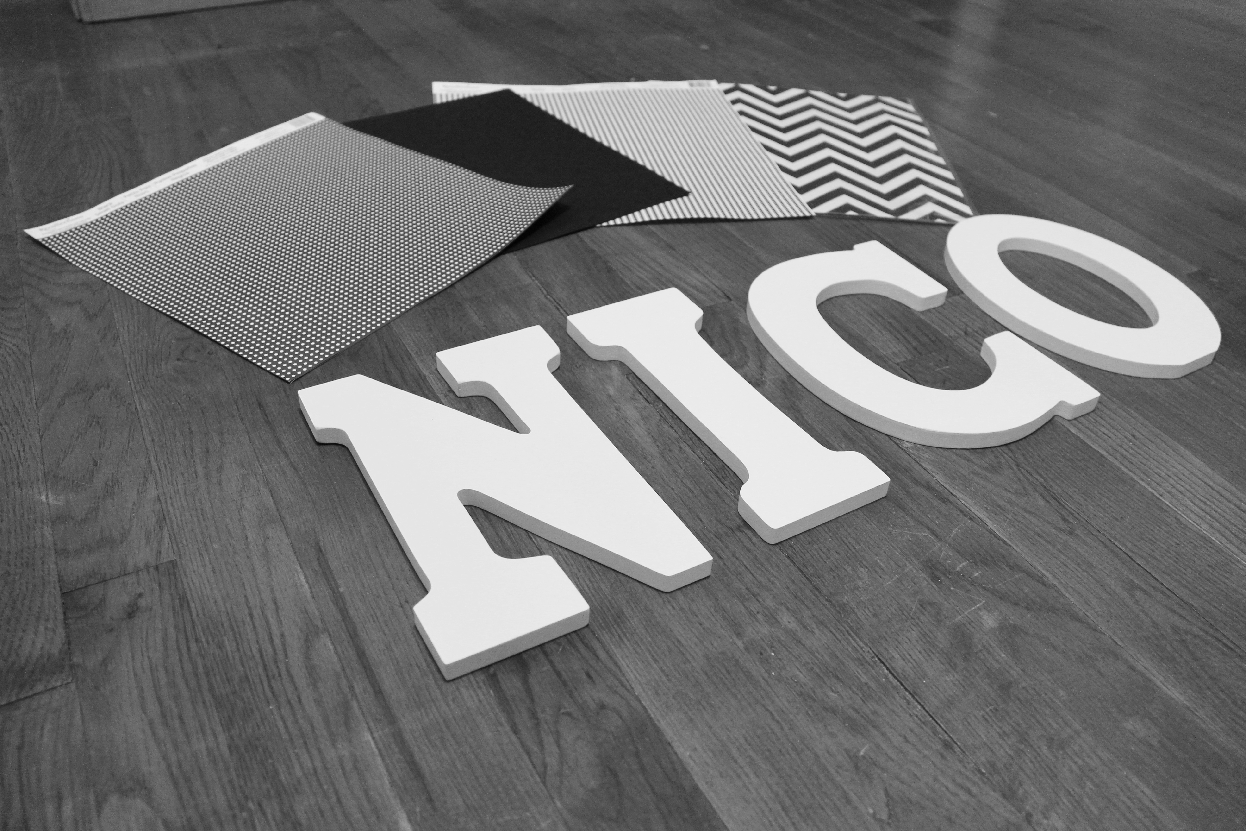 diy wood letters for nursery