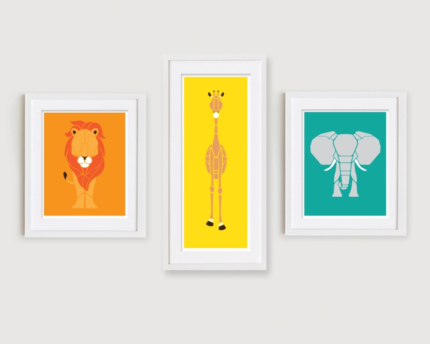Set of 3 - Tall Giraffe